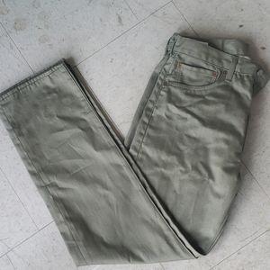 Greenish Tan Levi Jeans
